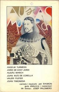 Guia didàctica d'Ausiàs March i els altres poetes (XV, XVI) musicats per Raimon (1985), foto de Xavier Caballé