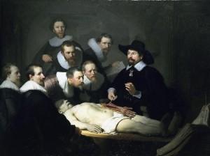La lliçó d'anatomia, de Rembrandt