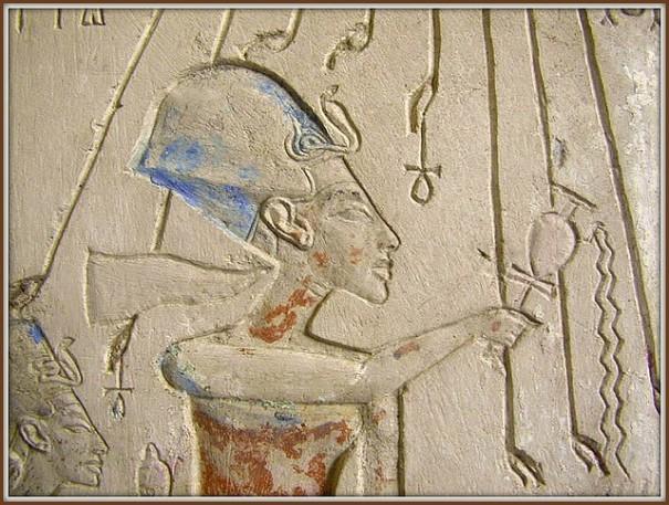 """""""La salle d'Akhenaton (1356-1340 av J.C.) (Musée du Caire)"""", de Dalbera"""