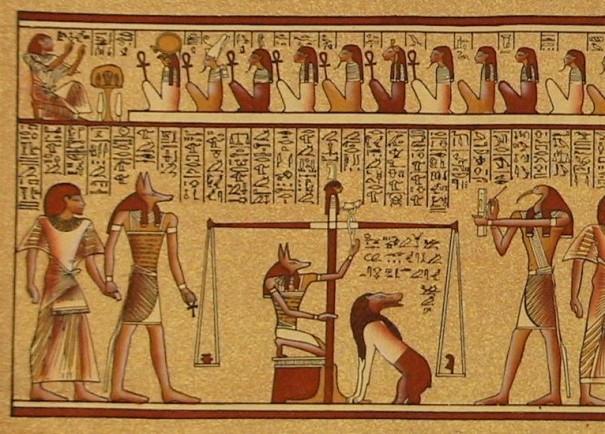 Imatge del judici d'Osiris, del blog Quadern d'en Cinto Amat