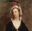 Detall d'un retrat de Mary Wortley Montagu fet per Charles Jervas
