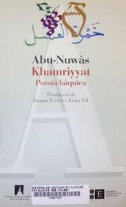 Abu-Nuwàs. Khamriyyat. Poesia bàquica