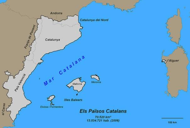 Els Països Catalans (amb noms), de marcbel (Marc Belzunces), al Flickr, http://www.flickr.com/photos/marcbel/1059606860/