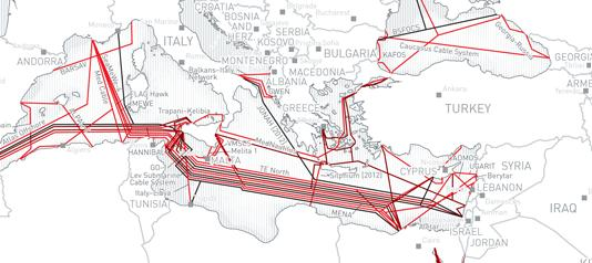 Cables submarins, de http://submarine-cable-map-2012.telegeography.com/