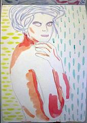 """""""Woman watercolor sketch, moleskine"""", de Yehohanan92, al Flickr"""