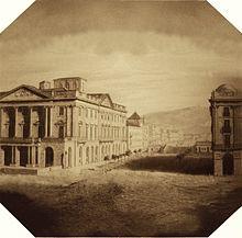 Recreació del primer daguerreotip de la península, imatge de la Viquipèdia