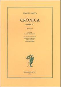 Volum I d'una edició del dietari de Miquel Parets