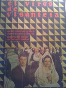 Coberta de la versió cinematogràfica d'El virgo de Visanteta, dirigida per Vicent Escrivà