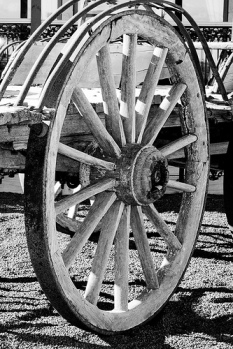 """Horse cart wheel"", de Ryk Neethling, Flickr"
