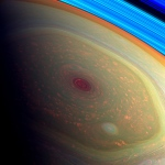 Vòrtex a l'hexàgon de Saturn. NASA