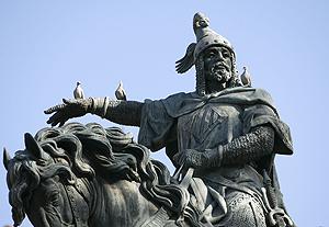 Escultura que representa el rei Jaume I, a València