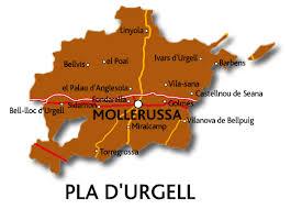 Plànol de la comarca del Pla d'Urgell