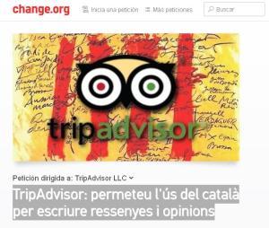 Petició via change.org a TripAdvisor