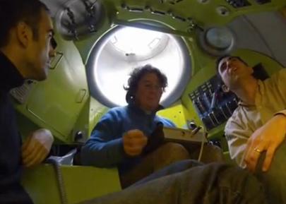 Imatge del vídeo de les proves d'immersió de l'Ictineu 3
