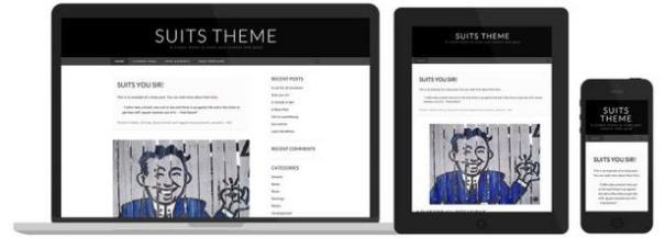 Tema adaptatiu Suits, de WordPress