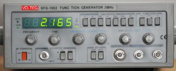 Generador de funcions Volteq SFG-1002, www.volteq.com