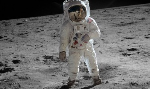 """Astronaut Buzz Aldrin on the moon"", NASA"