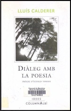 Diàleg amb la poesia, de Lluís Calderer