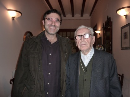 Santi Vallés amb J. L. Bausset
