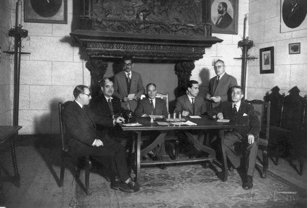 Claustre professors 1954-55