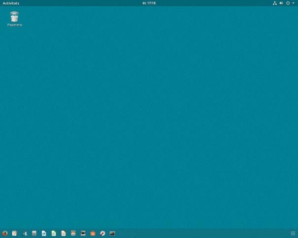 Escriptori de l'Ubuntu 17.10