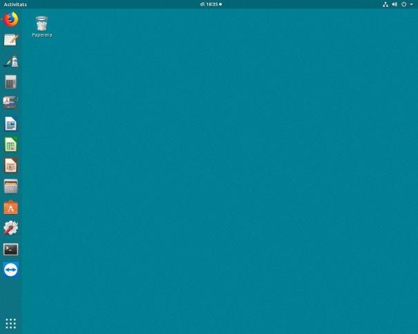 Escriptori Gnome de l'Ubuntu 17.10