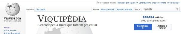Portada de la Viquipèdia, 27/8/2019
