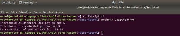 Execució programari Python