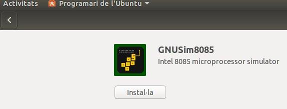 Instal·lació a Ubunt del GNUSim8085